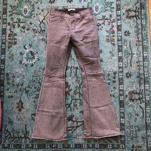 Free People Gray Denim Flare Legging Size 31 Long